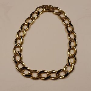 Vintage Fashion Gold toned Chain Link Necklace